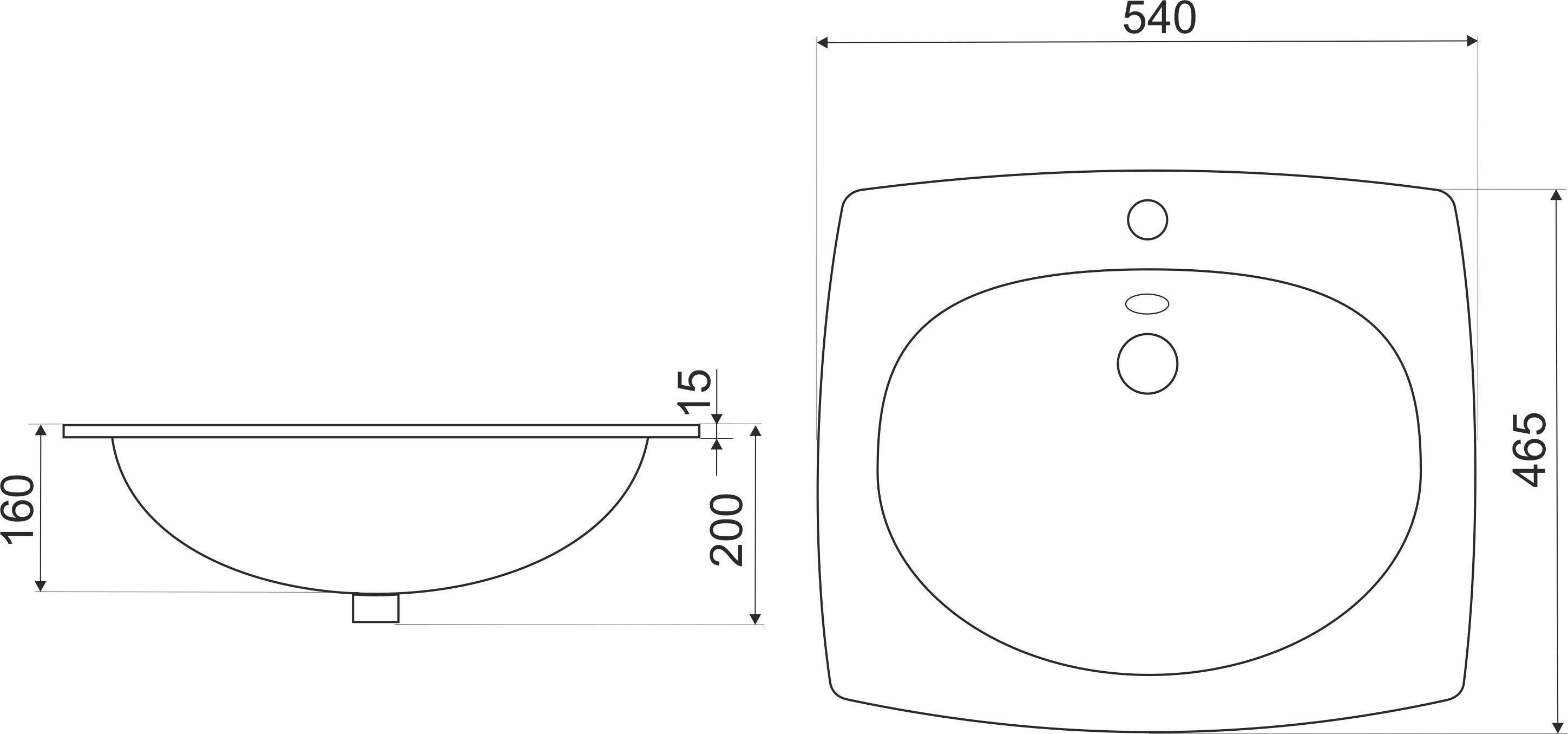 waschbecken eckig waschtisch wei oval 55 x 47 cm. Black Bedroom Furniture Sets. Home Design Ideas
