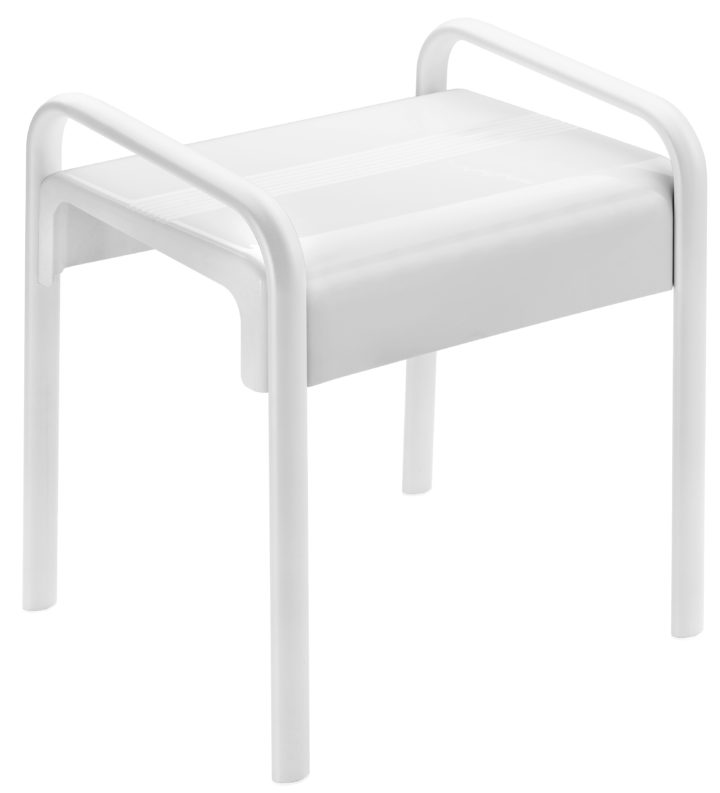 Barierrefrei Duschhocker ARSIS weiss modern ergonomisch stabil ... | {Duschhocker modern 59}