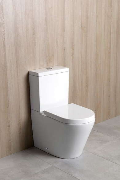 Stand-WC Boden-WC modern eckig PACO Toilette rimless Soft-Close-Sitz ...